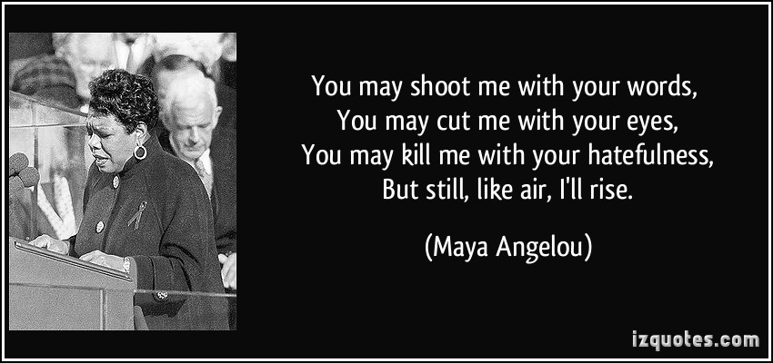 Maya Angelou When People Show You Who They Are Quote