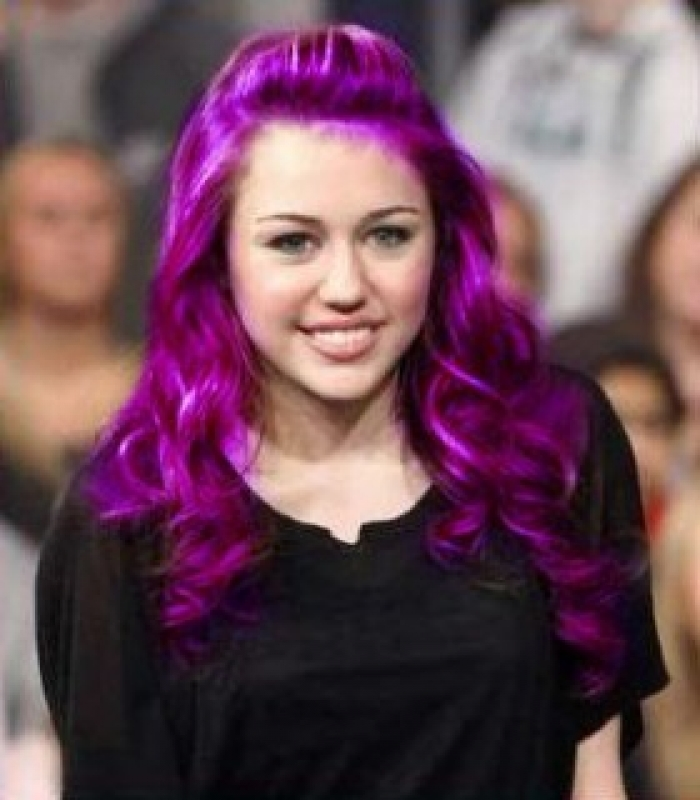 ... number 1 are similar. This is just a solid bright violet purple shade