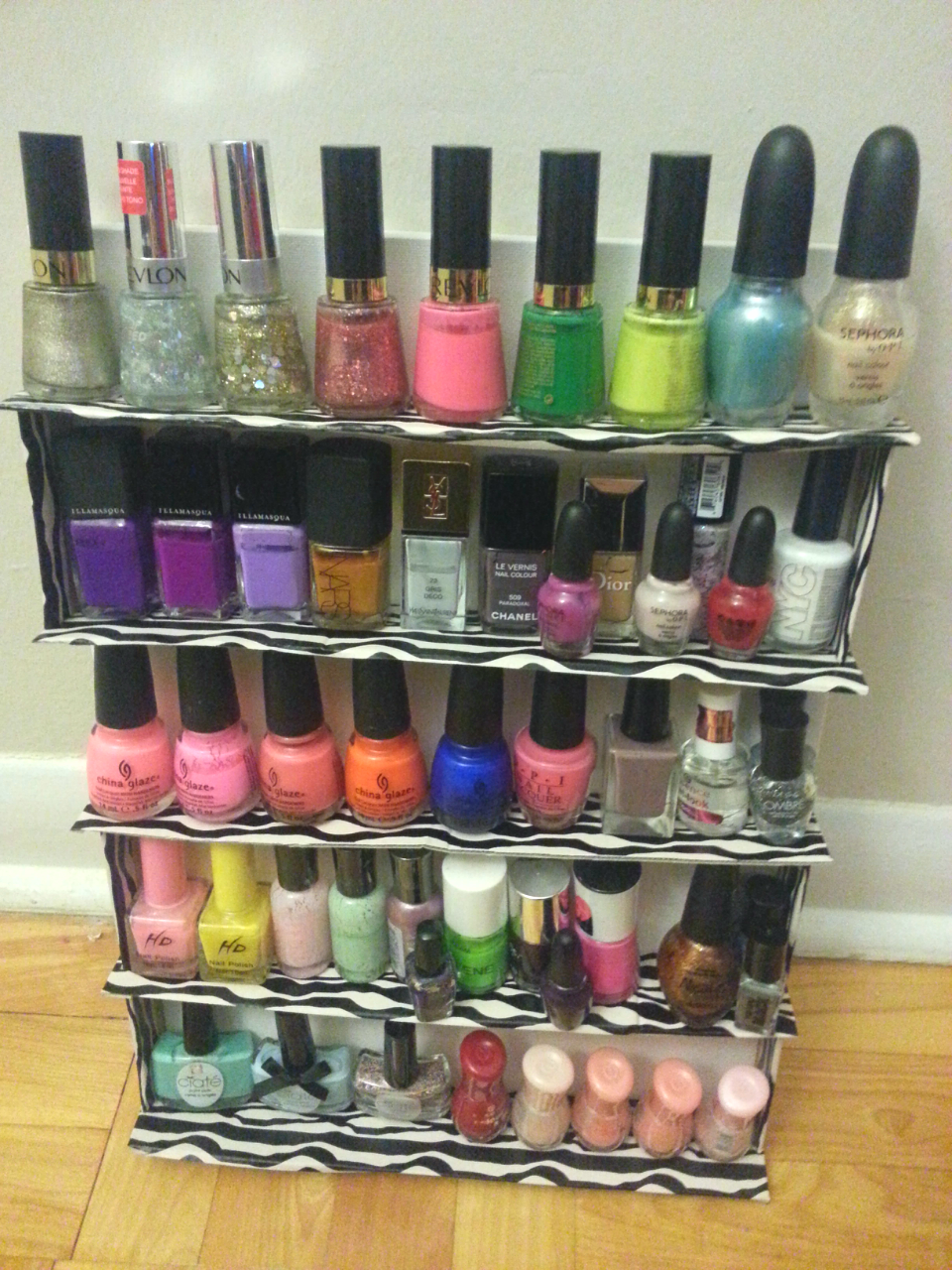 I built my own nail polish rack!