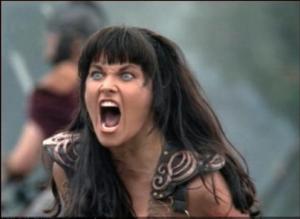Xena-Angry