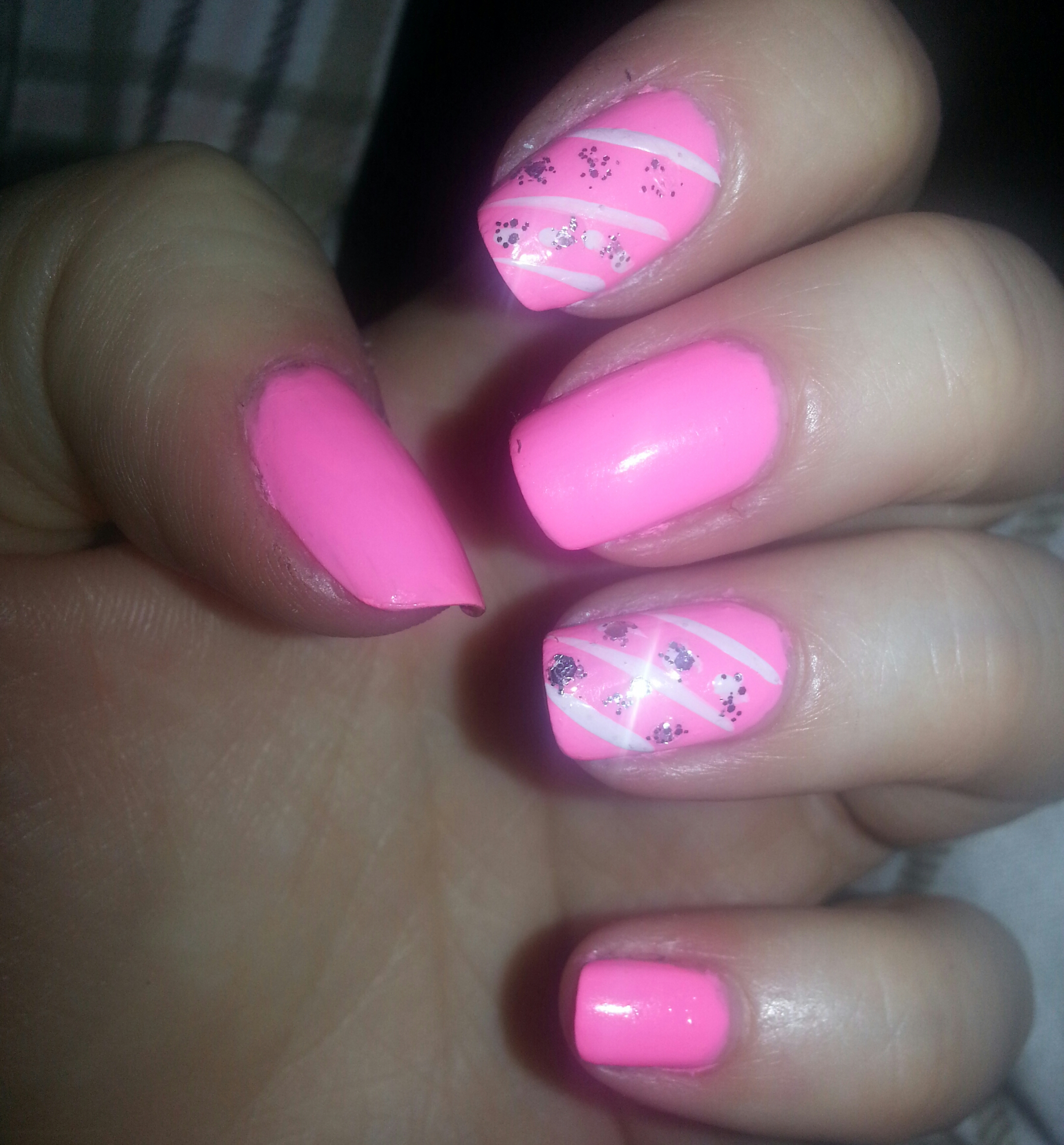 My Barbie pink nails
