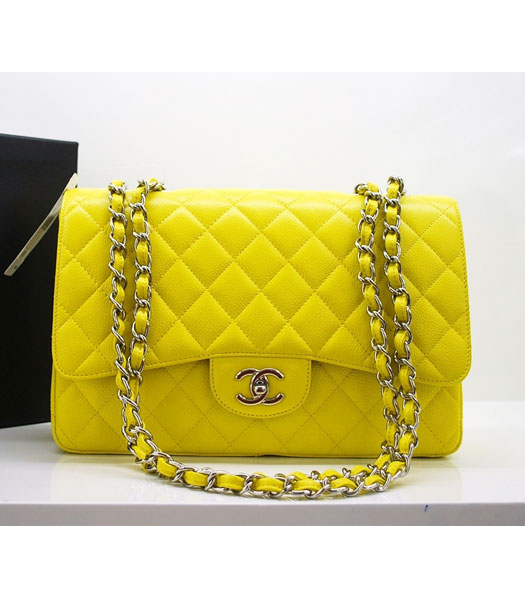 chanel-2010-jumbo-flap-bag-yellow-caviar-leather-silver-chain-40245-tv